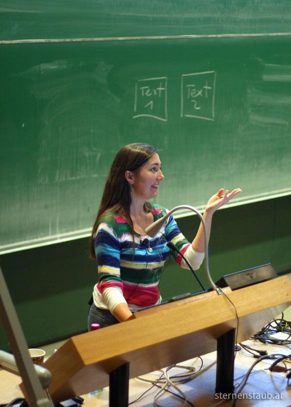 Foto: Vortrag von Brigitte Schüch am WordCamp Vienna