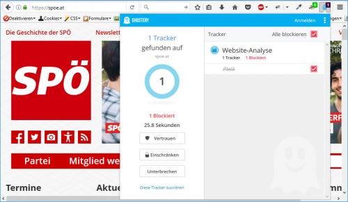 SPÖ: 1 Tracker